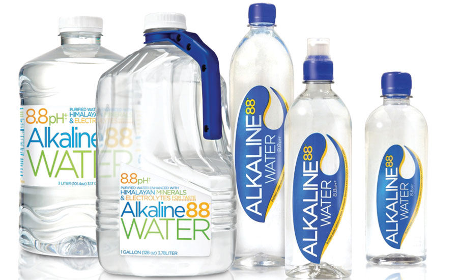 Botellas de agua alcalina