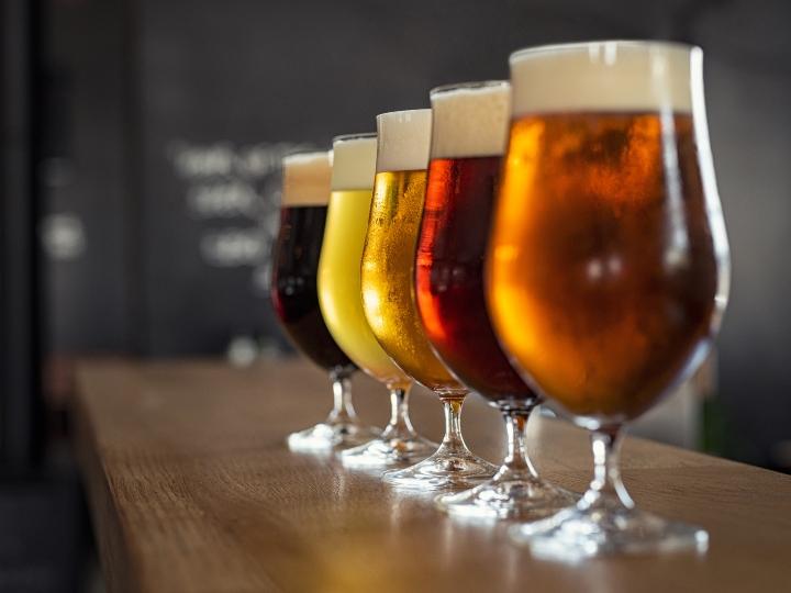 5 vasos de cerveza diferentes