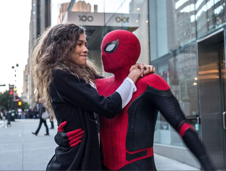 mary jane y spider man en far from home