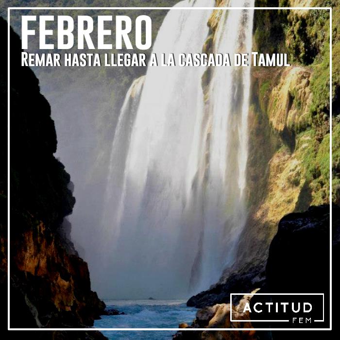 Febrero Remar hasta llegar a la cascada de Tamul