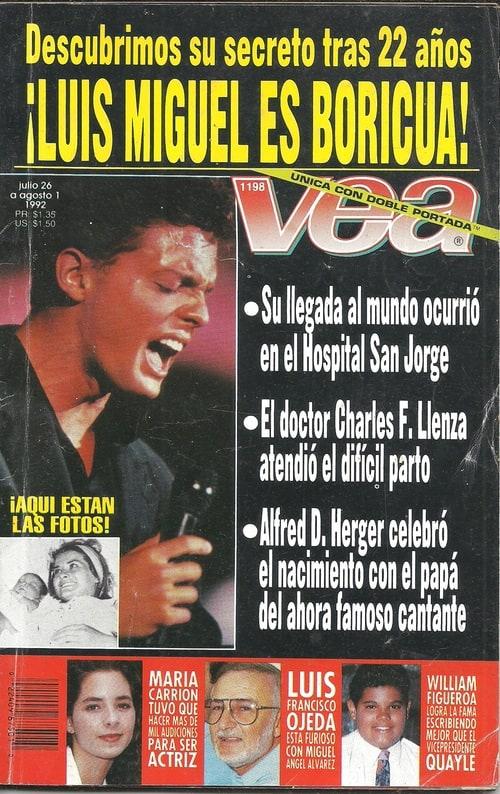 As fue como sali la noticia de que luis miguel no era mexicano actitudfem - Nacionalidad de puerto rico en ingles ...