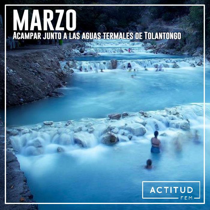 Acampar junto a las aguas termales de Tolantongo Hidalgo