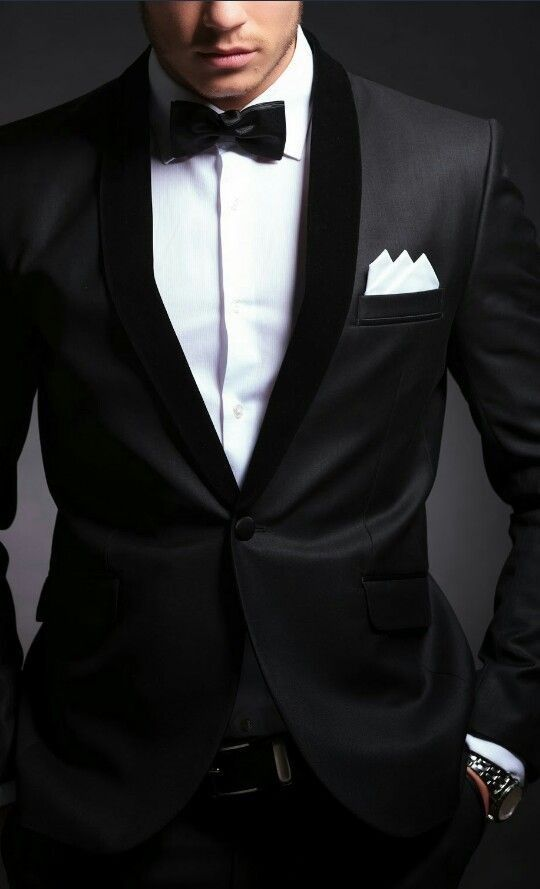 Corbata de moño negra