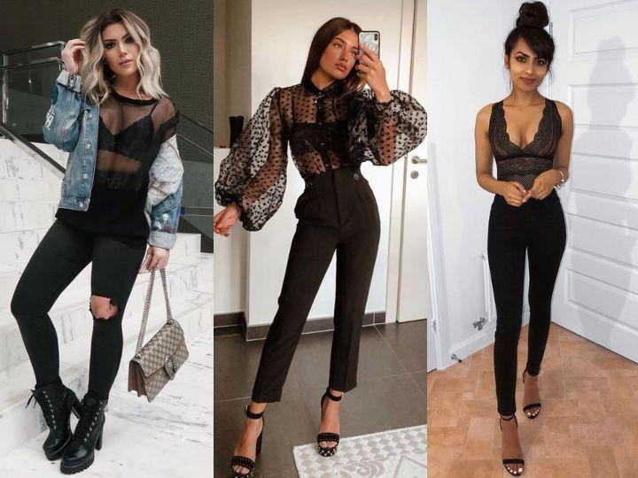 Outfits en negro para recibir el Año Nuevo toda darks y