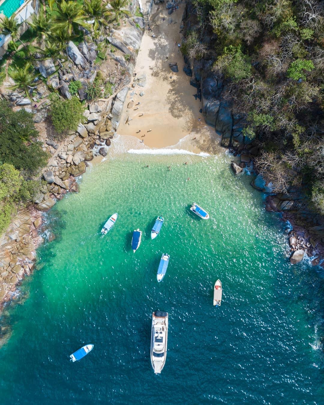 Colomitos es la playa más pequeña de México.