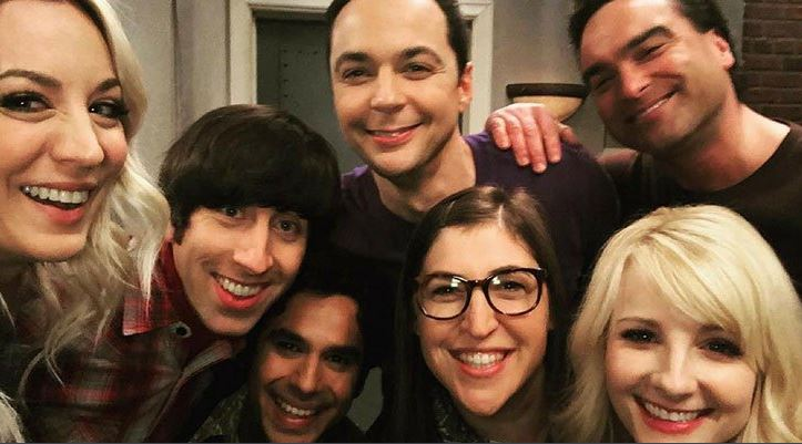 fotografía del reparto de the big bang theory