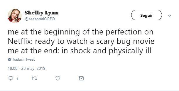 reacciones en twitter a the perfection