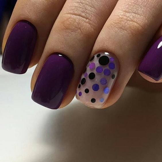 Uñas color ultra violeta fotos | ActitudFem