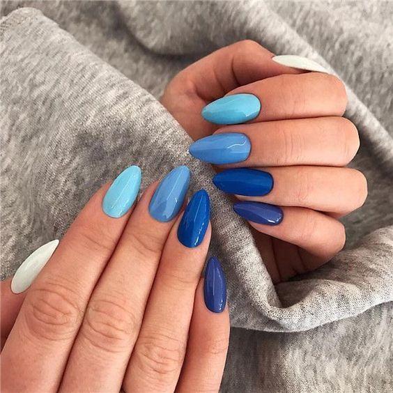 Resultado de imagen para uñas en tonos azules