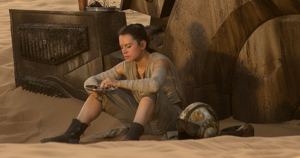 Rey en The Force Awakens.
