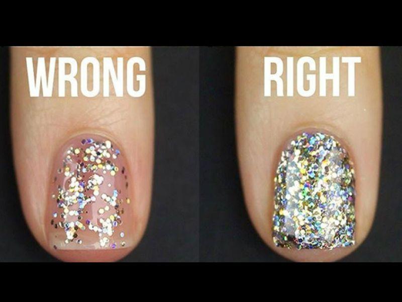 Cómo Pintarse Las Uñas Con Glitter Y Esponja Actitudfem