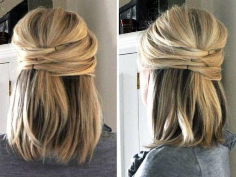 Diferentes versiones peinados faciles para eventos Galería de cortes de pelo estilo - 7 peinados semi recogidos y sencillos para eventos ...