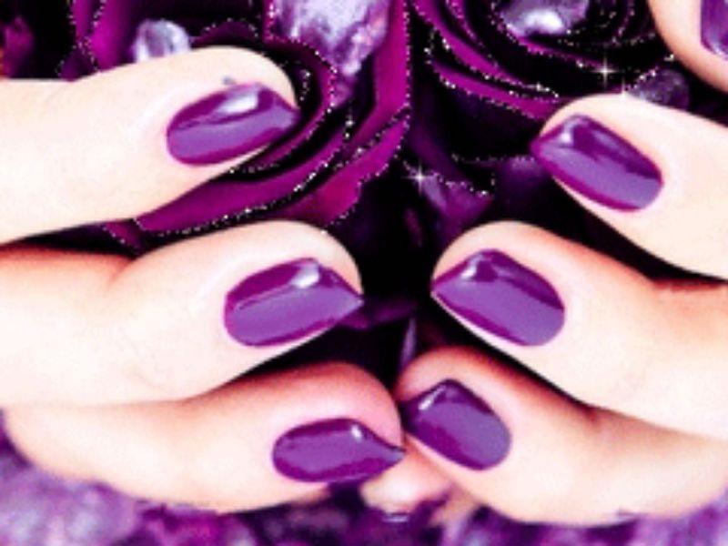 Uñas Color Ultra Violeta Fotos Actitudfem