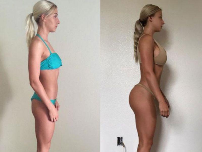 Dieta sin ejercicio antes y después