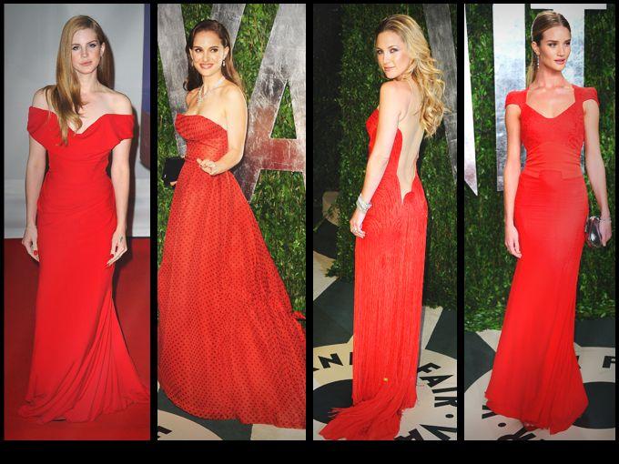 Famosas con vestidos de fiesta rojos