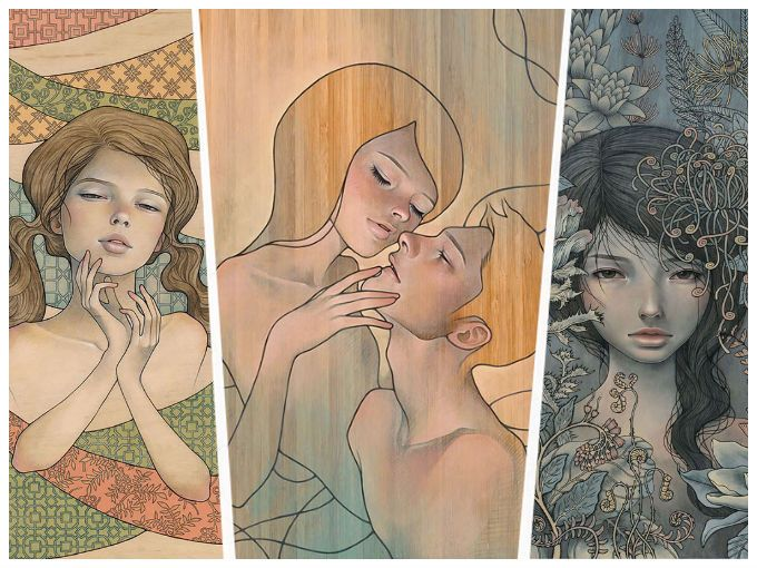 El arte de la pintora Audrey Kawasaki es un mundo de increíbles contradicciones. La inocencia, el erotismo, la seducción y la melancolía encuentra su forma en figuras con influencia del Manga y el Art Nouveau. Conoce algunas de sus obras.