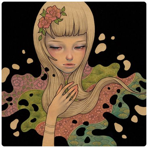 Lost In Thougth por Audrey Kawasaki.