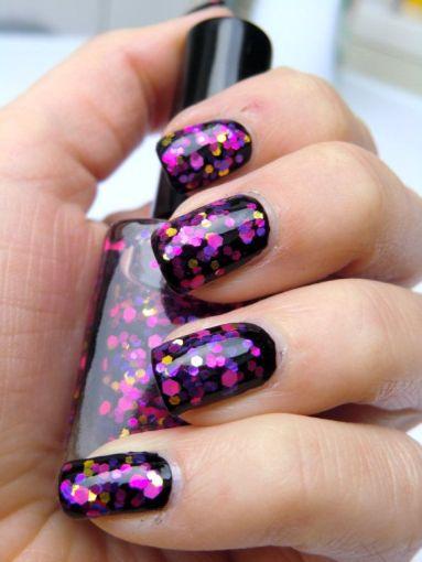 Resultado de imagen para Manicure con glitter