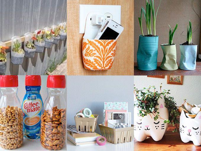 10 formas f ciles de reutilizar objetos actitudfem - Objetos reciclados para el hogar ...