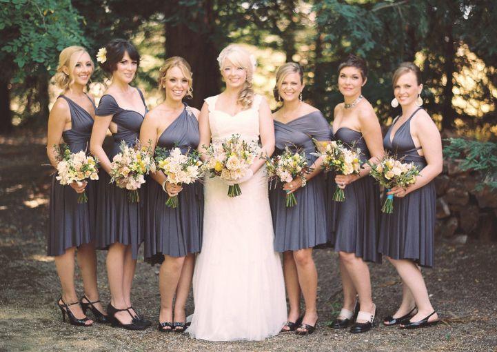 Beige Bridesmaid Dresses Style R101 Short: Vestidos Color Gris Para Damas De Boda [FOTOS]