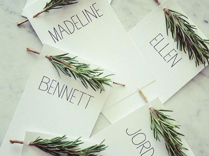 Ideas de tarjetas de nombres para tus invitados fotos - Colocar fotos en pared ...