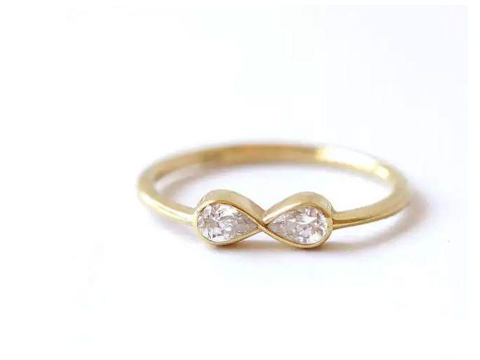 Matrimonio Tema Infinito : Anillos de compromiso sencillos soyactitud