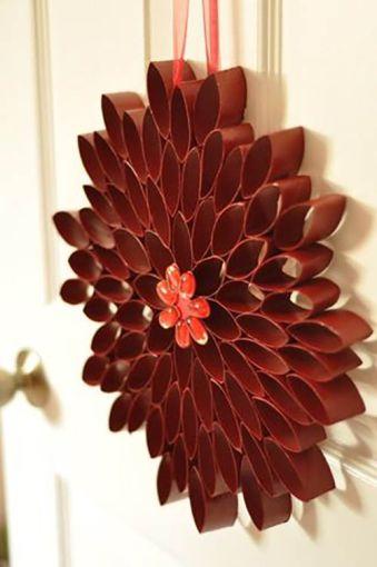 Manualidades y decoraciones navide as hechas con rollos de - Manualidades y bricolaje para el hogar ...