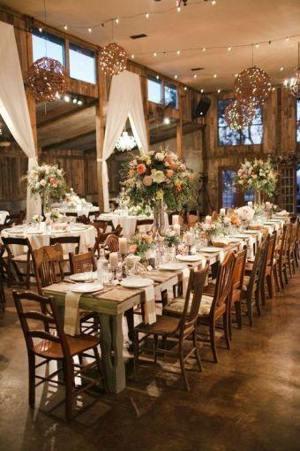 Mesas r sticas de madera para bodas de sal n actitudfem - Mesas de noche rusticas ...