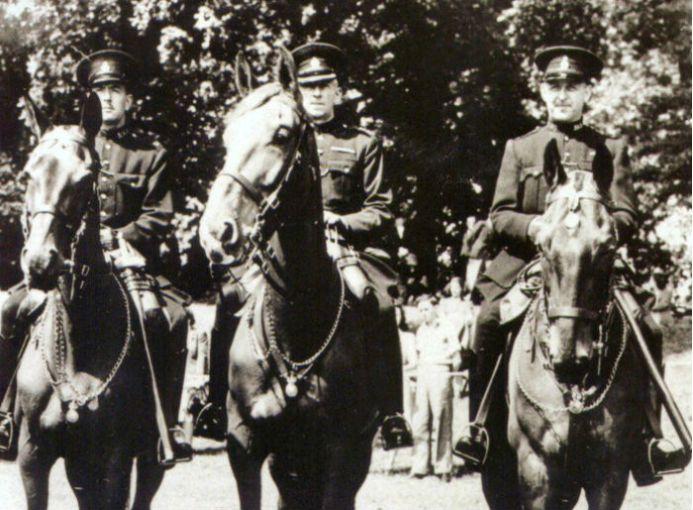 Olga, Upstart y Regal fueron 3 caballos honrados con la medalla Dickin por ser parte del Servicio de la Policía Metropolitana de Londres durante tiempos de conflictos bélicos. Upstart (el de en medio), también fue homenajeado por permanecer en calma mientras su granjero era incendiado.