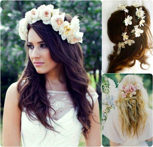 Casual Wedding Hairstyles: Peinados Con Flores Para Boda