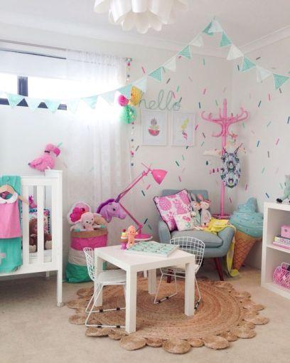 9 hermosas ideas para decorar el cuarto de tus hijos for Recamaras de unicornio para ninas