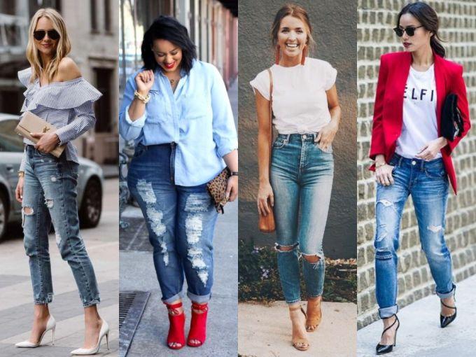Looks Con Jeans Rotos Para Verte Arreglada En La Oficina Actitudfem