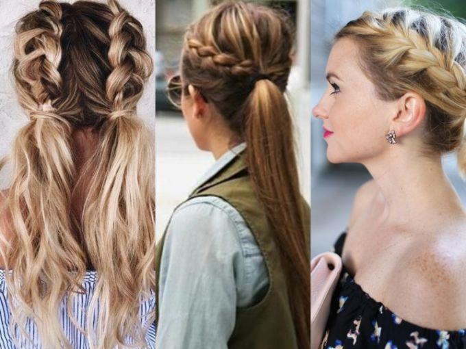 Minimalista peinados con coletas Colección de estilo de color de pelo - Peinados que combinan trenzas y coletas que puedes hacerte ...