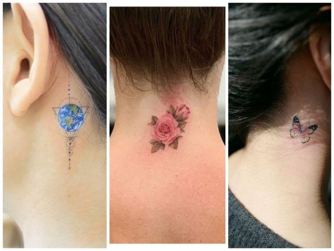 Tatuajes Para Mujeres Un Nuevo Accesorio De Moda: Tatuajes En El Cuello Para Mujer: 15 Diseños Diminutos Y