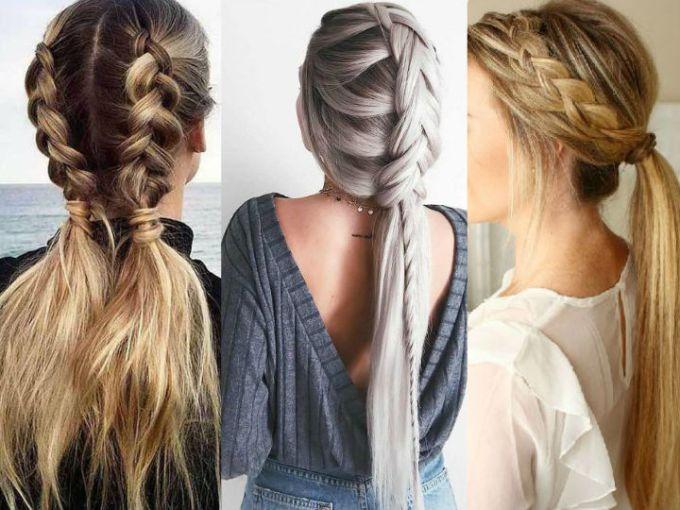 Las mejores variaciones de peinados ala moda Galería de cortes de pelo estilo - 15 peinados de 5 minutos con trenzas para ir a la oficina ...