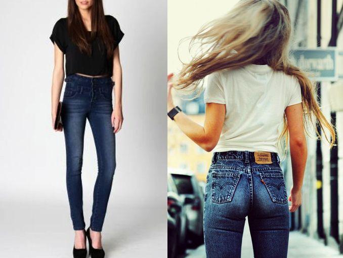Pantalones de mezclilla a la cintura | ActitudFem