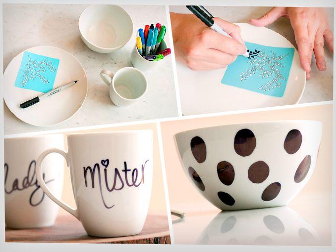 DIY para decorar tu vajilla en 4 pasos sencillos