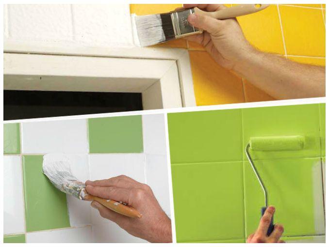 Como pintar azulejos de ceramica soyactitud for Como pintar azulejos