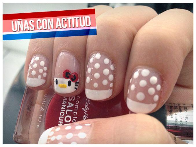Tutorial: manicure frances con decorado | ActitudFem