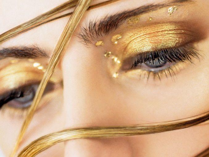 Maquillaje dorado ActitudFem