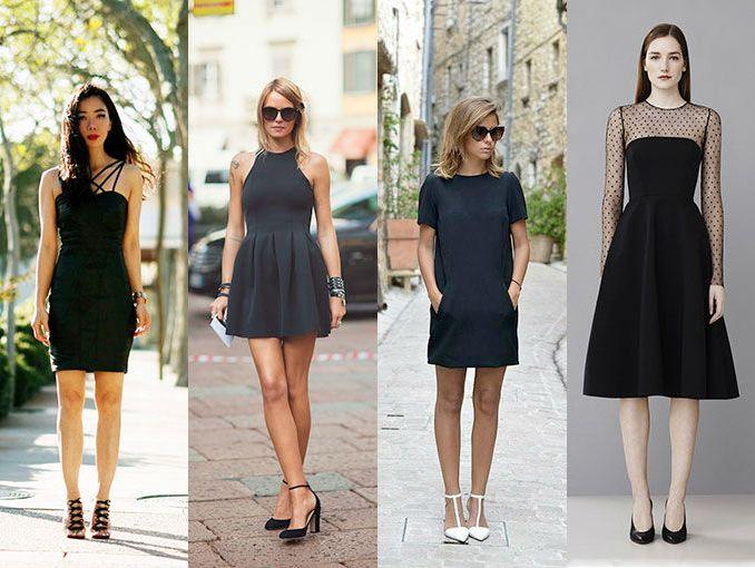 Combinar un vestido negro para el dia