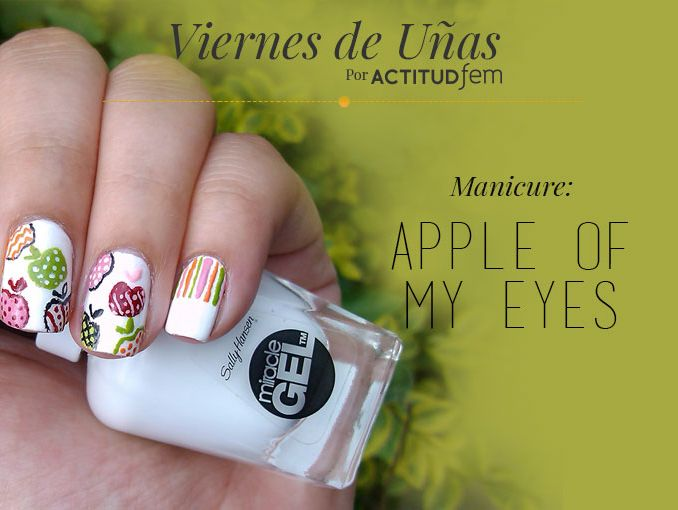 Manicure de manzanas [Tutorial] [Uñas]   ActitudFem