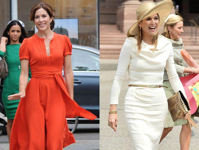 Vestidos casuales de la realeza