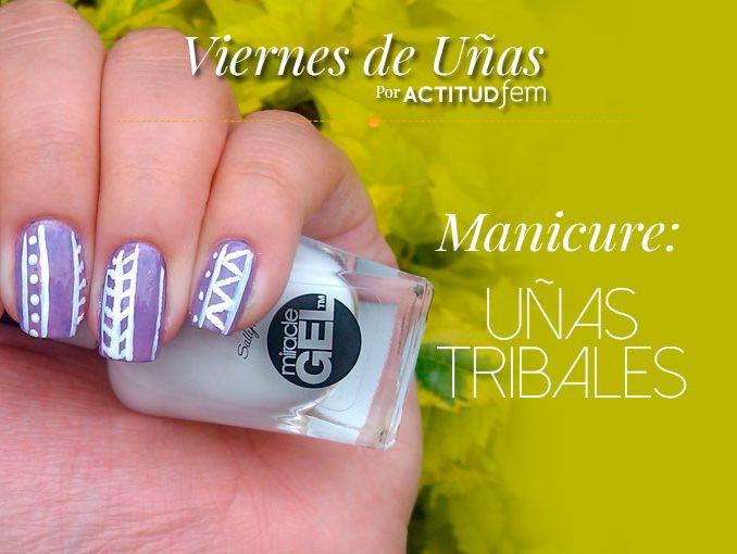 Manicure morado tribal | ActitudFem