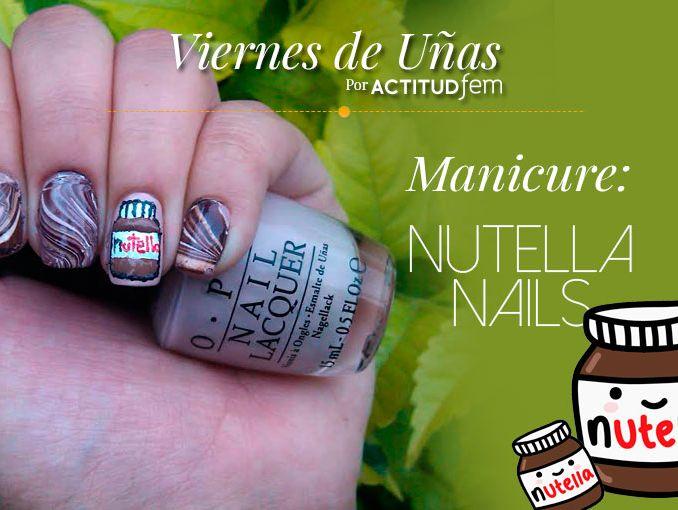 Uñas para las amantes de la Nutella [Tutorial] | ActitudFem