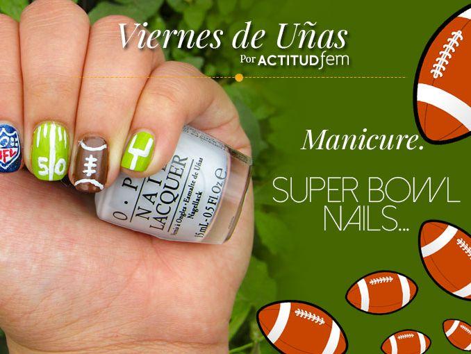 Uñas para el Super Bowl | ActitudFem