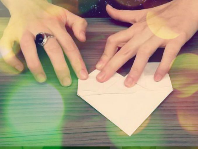 Como Hacer Un Corazon Y Una Mariposa De Papel Origami Actitudfem - Origami-corazn