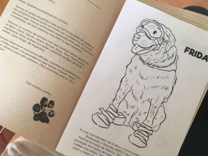 Ella creó libros para colorear con las ilustraciones de los perritos ...