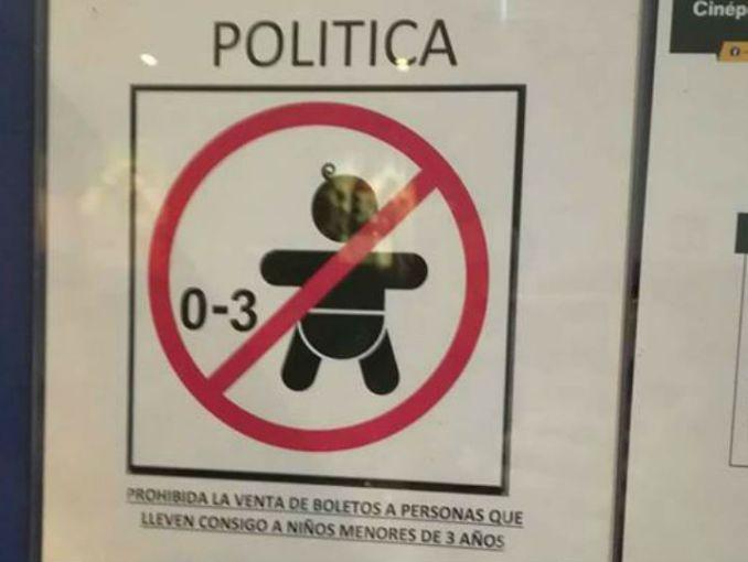 Prohíben en Cinépolis de Campeche entrada a bebés