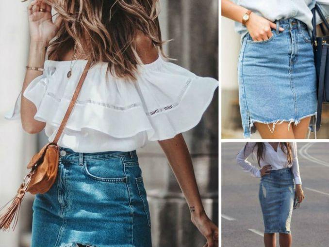 7 faldas de mezclilla para cuando estés cansada de usar jeans ... 87a354dc60d4